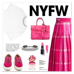 """""""NYFW Trend Spotting: Hot Pink"""" by tamara-40 ❤ liked on Polyvore featuring Fendi, Acne Studios, Reed Krakoff, Aquazzura, Avenue, Oscar de la Renta, Marc Jacobs, contestentry and NYFWHotPink"""