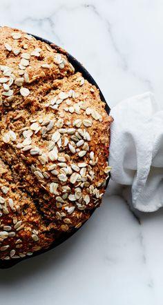 Seeded whole grain soda bread