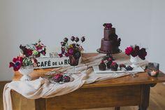 Sweet Table lila und pink und rot - Heiraten im Audrey Hepburn Look & in Beerenfarben | Hochzeitsblog The Little Wedding Corner