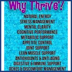 Are you #tired of being tired? Why not turn to #thrive! Here are some #reasons…