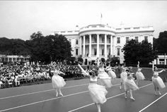 Interlochen dancers performing at the White House. August 7, 1962.