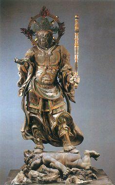 Guardian figure, Kamakura period Kamakura Period, Japanese Buddhism, Japan Tattoo, Japanese History, Call Art, Buddhist Art, Japan Art, Sacred Art, Art History