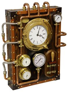 Wall Clock BernisCervera (Industrial Steampunk old and vintage style) on Etsy, $1,850.00