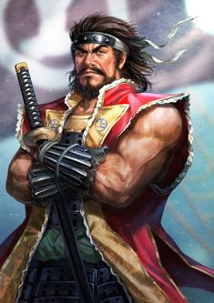 Murakami Takeyoshi(Pirate of Chugoku) Fantasy Male, Anime Fantasy, Character Concept, Character Art, Asian Artwork, Samurai Artwork, Ninja, Martial Artists, Samurai Warrior