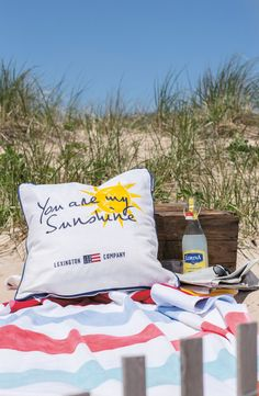 You are my Sunshine - sham from Lexington Summer Home Collection 2015.