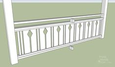 I want to add charm and character to my home. I found this tutorial on building flat sawn baluster railings. Looks super easy to do. Porch Balusters, Front Porch Railings, Deck Railings, Porch Over Garage, Beach House Deck, Porch Railing Designs, Wainscoting, Build Your Own, Super Easy
