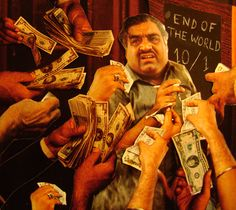 """""""Plus d'argent que du sens"""" Technique: Collage"""