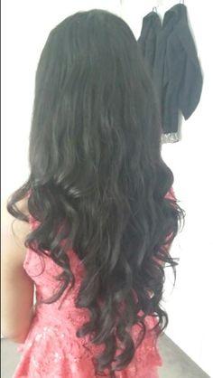 My beach wave curls ♡