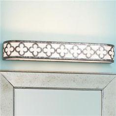 Quatrefoil Geometric Bar Bath Light