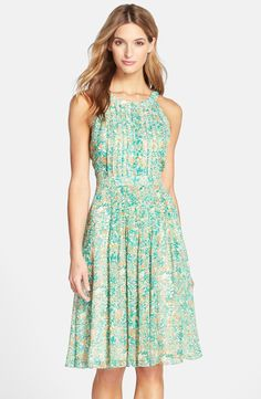 Floral print dress for rustic wedding guest