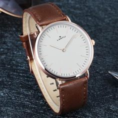 Fashion Men Round Dial Synthetic Le..