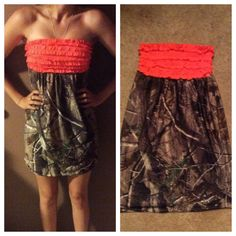 So cute! I could make my own :) Realtree Camo Sundress MORE COLORS AVAILABLE by GirlsWithGuns22