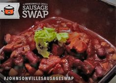 New Orleans Style Bourbon Chili... just the recipe for a #JohnsonvilleSausageSwap! Go to www.johnsonville.com/chilisausageswap and officially register your sausage swap suggestion pin(s) for a chance to #win one of 20 Crock-Pot slow cookers and Johnsonville Italian Sausage!