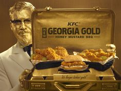 To accompany the launch of the new Georgia Gold chicken, KFC has hired a new Colonel Sanders: actor and producer Billy Zane 1/26/17