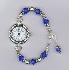 Custom Swarovski Crystal Beaded Watch