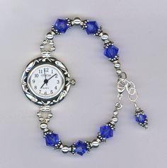 Custom Made Custom Swarovski Crystal Beaded Watch Bead Jewellery, Jewelry Making Beads, Bracelet Making, Bracelet Watch, Jewelery, Swarovski Watches, Beaded Watches, Jewelry Watches, Handmade Jewelry Bracelets