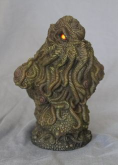 Cthulhu Bust (Painted)!!! by ~shaungent on deviantART