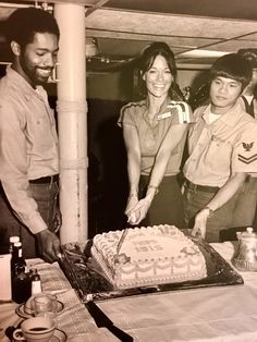 The crew`s reception for ISIS aboard Aircraft Carrier Kitty Hawk
