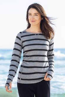 Isobar Merino Stripe Crew Neck at EziBuy New Zealand. Buy women's, men's and kids fashion online. Kids Fashion, Fashion Outfits, Jeans And Sneakers, Weekend Outfit, Model Pictures, Online Clothing Stores, Best Brand, Black Stripes, Activewear