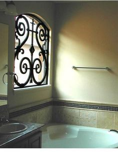 Faux Wrought Iron Custom Window Grill.