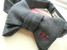 Custom Made Monogrammed Bowties for women by HandsomeAndLaceWomen, $58.00