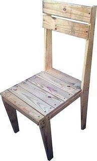 shipping pallet chair - DIY