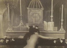 Brothel in Paris - Black Mass One of the rooms at 32 Rue de Navarin was a faux church, so that clients could enjoy fake black masses while dressed as monks. Persona, Opium Den, Saloon Girls, France Photos, Le Far West, Thing 1, Old West, French Artists, Disney Style
