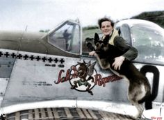 Lt. Ralph K Hofer and his dog Duke http://acesofww2.com/Canada/aces/hofer.htm