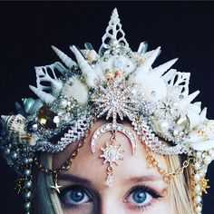 The Queen of the Sea Crown- Mermaid Crown - Shell Crown - Crystal Crown - Bridal Crown - Pre-order/made to order Festival Looks, Sea Crown, Shell Crowns, Seashell Crown, Mermaid Crown, Mermaid Princess, Mermaid Top, Dark Mermaid, Princess Crowns