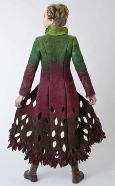 Jessica De Haas- felt cut out coat