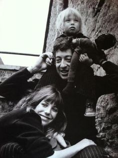 Jane Birkin and Serge Gainsbourg with daughter