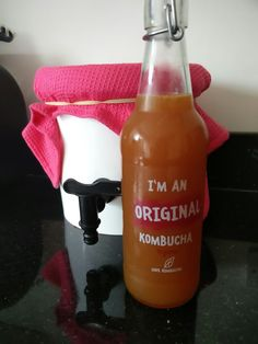 Home made kombucha  Great source of probiotics. Healthy, Happy gut = healthy, happy body