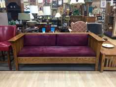 FIND QUALITY FURNITURE FOR LESS AT NEW USES: Extremely Solid Mission Style Bench that's built to last & only $100. Open til 8pm weeknights!