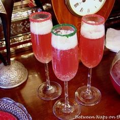 Champagne Punch Perfect for a Christmas or New Years Eve Party