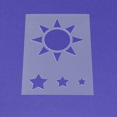 Schablone Sonne und Sterne - MA16 von Lunatik-Style via dawanda.com
