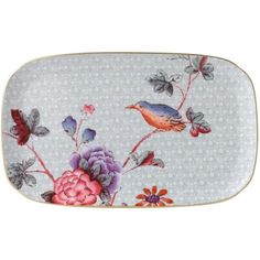 Wedgwood Cuckoo Sandwich Tray (85 AUD) ❤ liked on Polyvore featuring home, kitchen & dining, serveware, no color, bone china, wedgwood, sandwich trays, bird tray and bone tray
