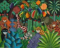 44 ideas jungle landscape illustration henri rousseau for 2019 Jungle Illustration, Landscape Illustration, Henri Rousseau Paintings, Monet Paintings, Jungle Flowers, Jungle Art, Haitian Art, Tropical Art, Naive Art