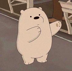 Cute Panda Wallpaper, Bear Wallpaper, Cute Disney Wallpaper, Wallpaper Iphone Cute, Cute Cartoon Drawings, Cartoon Pics, Cute Cartoon Wallpapers, Ice Bear We Bare Bears, We Bear