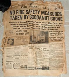 cocoanut grove nightclub on Pinterest | Boston, Nightclub and Fire
