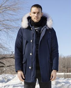 Blue parka from Woolrich ( for men)