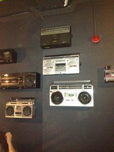 Vintage Radios as wall decoration