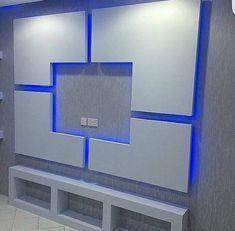 Related image - home videowall Drawing Room Ceiling Design, New Ceiling Design, Ceiling Design Living Room, Bedroom False Ceiling Design, Lcd Wall Design, Wall Shelves Design, Modern Tv Wall Units, Tv Wand, Tv Wall Decor