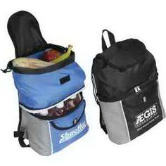 Pack everything you need and more with this Journey cooler backpack! Each of these 210 denier polyester backpacks features an insulated bottom compartment with zipper closure, a front pocket and flap pocket with hook and loop closures, an upper compartment with a drawstring closure and the comfortable convenience of an adjustable shoulder strap. Just add your brand and you'll pack in some promotional success! Order now!
