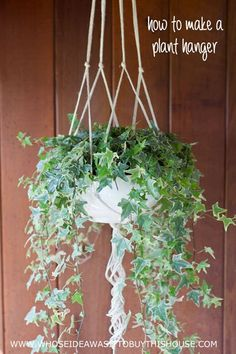 How to make a simple DIY plant hanger out of jute rope. :)