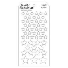 New Scrapbooking Supplies > Stars Layering Stencil - Tim Holtz: A Cherry On Top