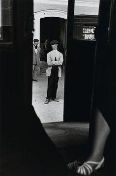 Louis Stettner photo, Spain, Thin Man in White Coat, 1951 (please follow…
