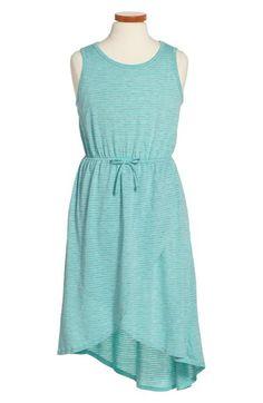 Soprano Stripe Knit Tulip Dress (Big Girls) available at #Nordstrom