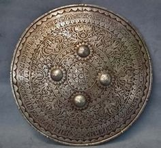 SOLD  Antique Indo Persian Mughal Shield Dhal Separ 18th century