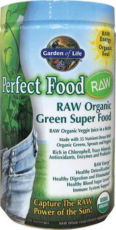 Perfect Food RAW Organic Green Super Food...i eat every day mixed w/ Vanilla RAW protein powder