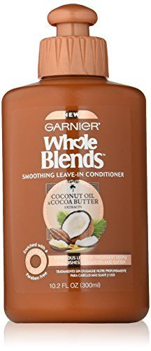 Garnier Whole Blends Smoothing LeaveIn Conditioner with Coconut Oil  Cocoa Butter Extracts 102 Fluid Ounce * Details can be found by clicking on the image.